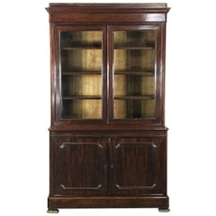 19th Century French Mahogany Louis Philippe Period Bookcase