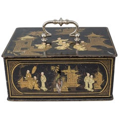 Rare Chinoiserie Lacquered Strong Box