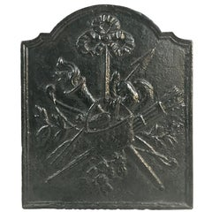 18th Century French Louis XVI Period Cast Iron Fireback