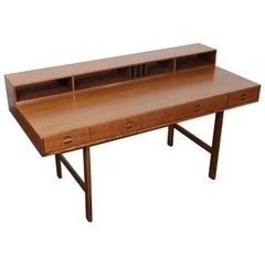 Flip-Top Midcentury Danish Walnut Desk by Jens Quistgaard for Peter Løvig