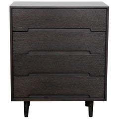 Ebonized Oak 1960s Four-Drawer Dresser by Stag of England