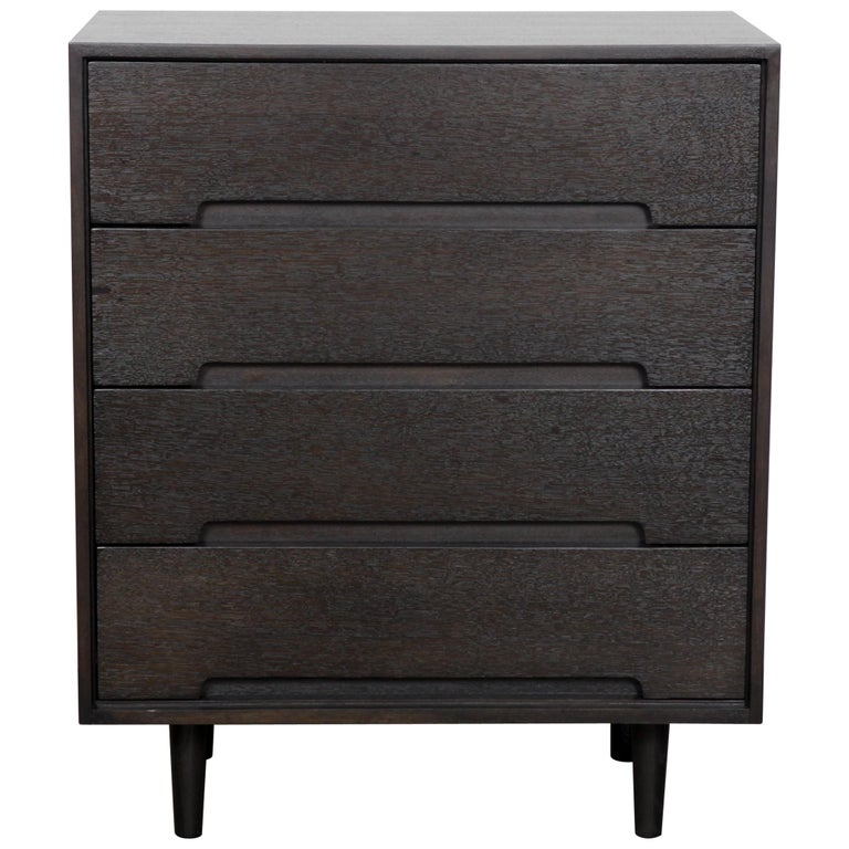 Long Low Four Drawer Dresser Console By Stanley At 1stdibs