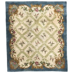 Vintage Late 20th Century French Savonnerie Rug