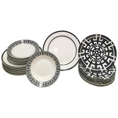 Contemporary and Modern Ceramic Dinnerware Set of 23 by Colin Cowie