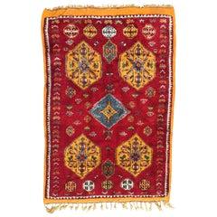 Vintage Moroccan Tribal Berbere Rug