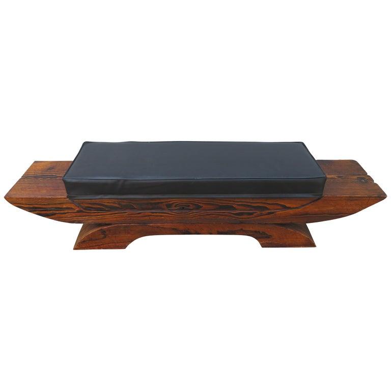 Whimsical Mid-Century Modern Tiki Bench, Witco Decor