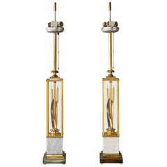 Brass Catttails Lamp