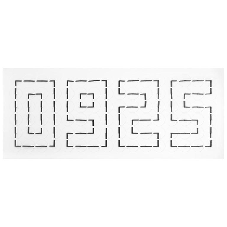 Million Times 96 Aluminium White Unique Wall Clock by Humans Since 1982