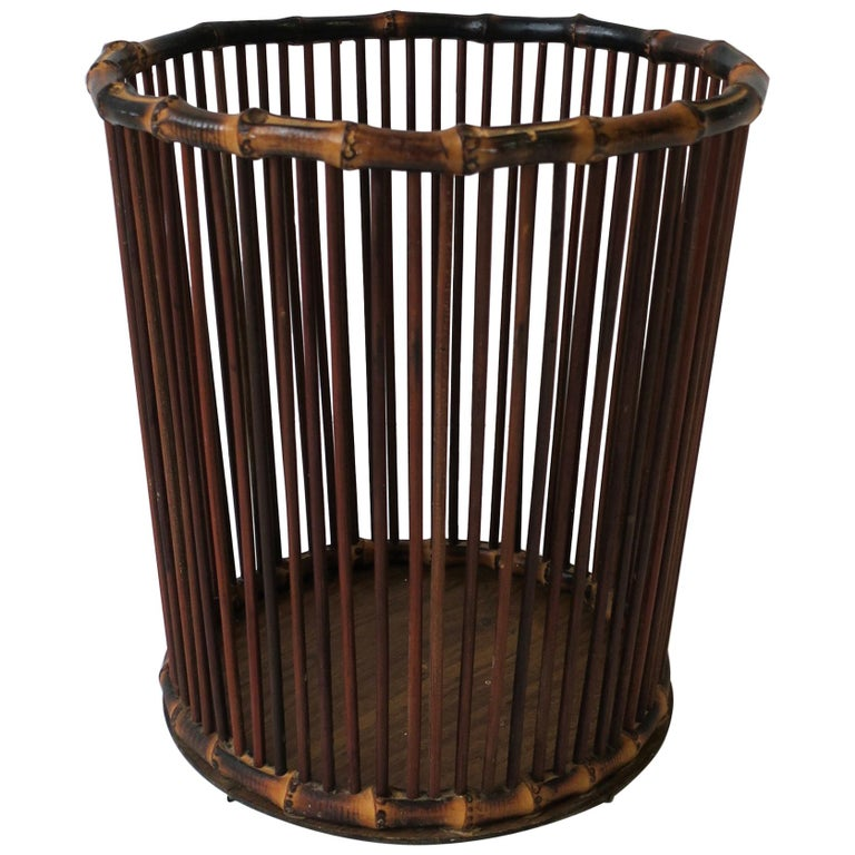 Bamboo Waste Basket or Trash Can