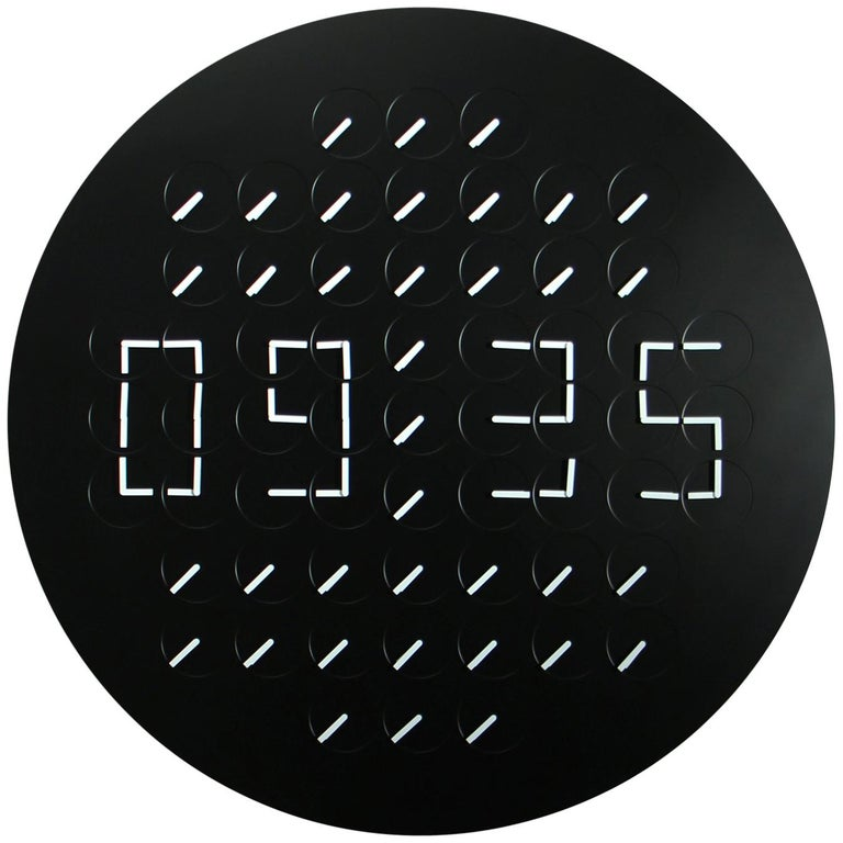 Million Times 61'c' Black Round Wall Clock Wall Sculpture by Humans since 1982