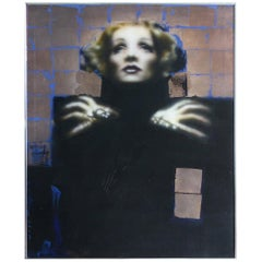Marlene Dietrich Giclee on Canvas Signed West and Dated '82