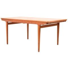 Large Extendable Teak Dining Table by Johannes Andersen for Uldum Møbelfabrik