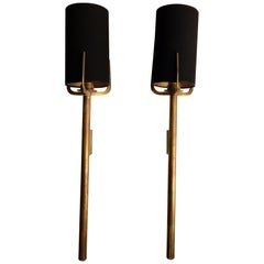 Pair of Spanish Torchère Brass Sconces