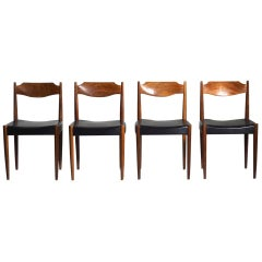 1960s Set of Four Chairs in Teak, by Danish Architect