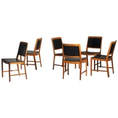 1960s Set of Six Chairs in American Walnut, Made by Bertil Fridhagen