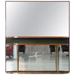 Midcentury Mirror Console