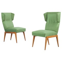 Set of Two Midcentury Accent Chairs