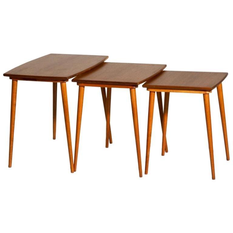 1960s Fine Nest of Tables in Teakwood, Danish Architect