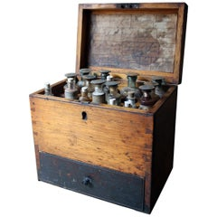 British Oak Apothecary Chest, circa 1858-1875, Formerly P.J. Dewar; Dingwall