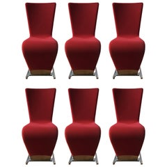 Six Dyna Chairs by Roche Bobois, Paris
