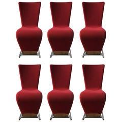 Six Dyna Chairs by Roche Bobois, Paris