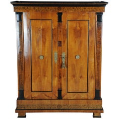 Biedermeier Clothes Cabinet Classicism, Cherrywood, circa 1810