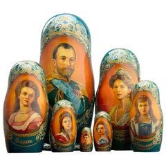 Russian Matryoshka Nestled Dolls 'Czar Nicholas II and Family'