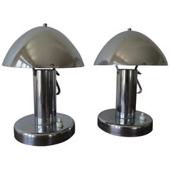 Pair of Table Bauhaus Lamps, Functionalism, 1930s