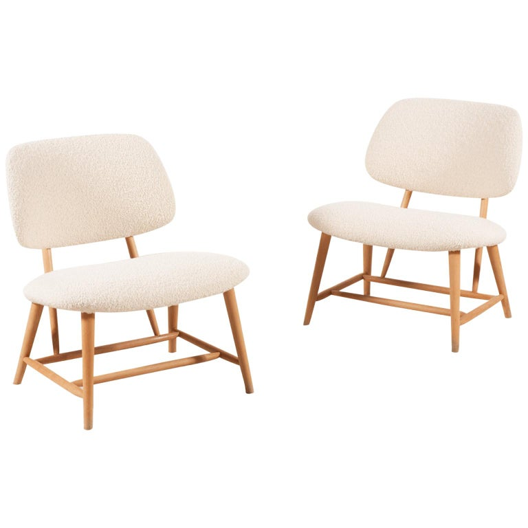 "Alf Svensson, Pair of ""Te-Ve"" Lounge Chairs, circa 1950"