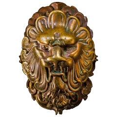 Brass Lion Door Knob