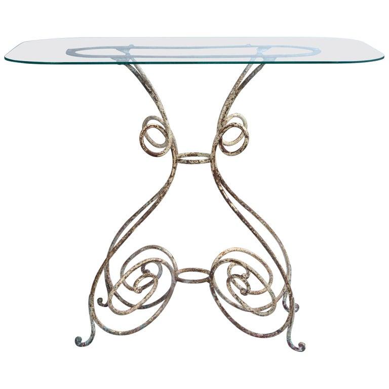 Iron Bistro Table, France, circa 1910