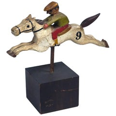Figural Steeplechase Horse and Rider, Early 20th Century