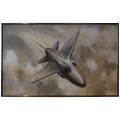 Painting of Jet G-39 Aircraft in flight