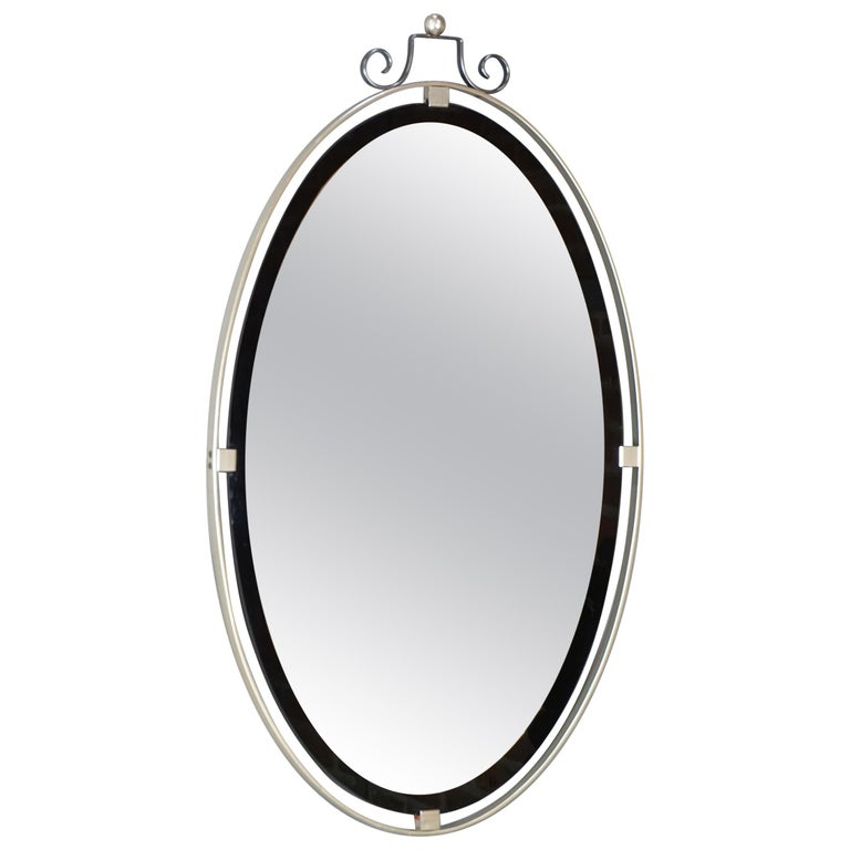 1950s Design Oval and Hanging Mirror