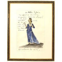 """La Belle Sylvia"" circa 1990 Signed Konstantin Kakanias"