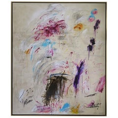 """Playful Diversion"" Original Painting by Karina Gentinetta, Signed, 60"" x 72"""