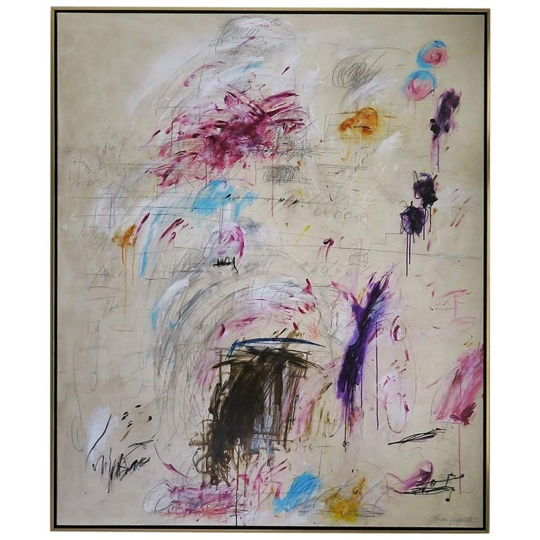 """Playful Diversion"" Original Painting by Karina Gentinetta, Signed,"