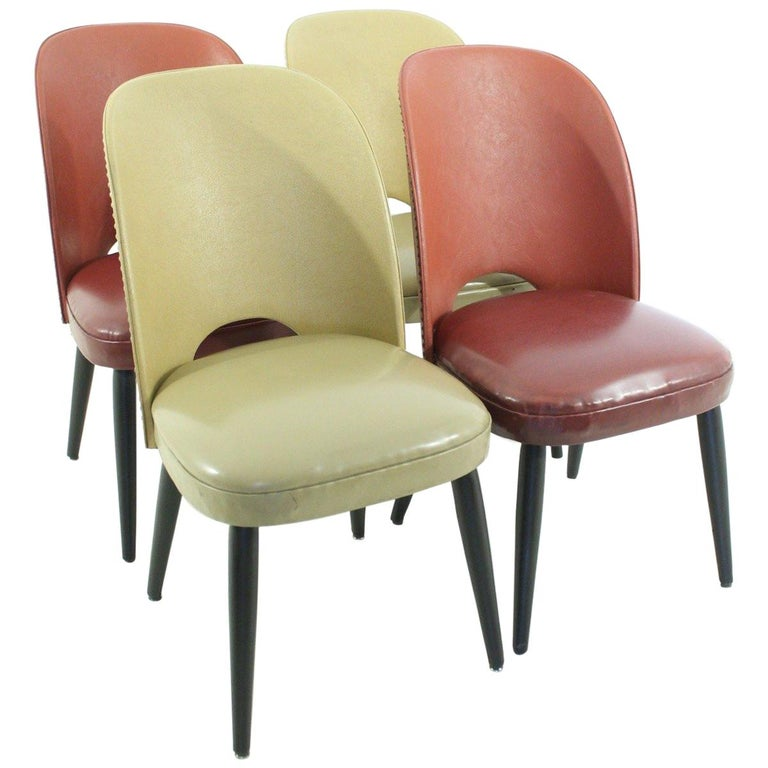 Set of Four 1950s Rockabilly Chairs