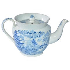 Early 19th Century English Blue Willow Child's Teapot