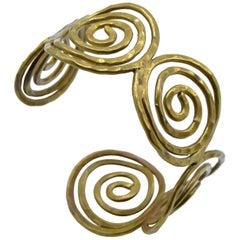 Brass Greek Key Style Cuff