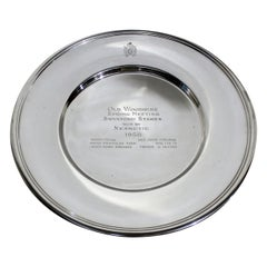 Sterling Silver Horse Racing Trophy Plate from Woodbine