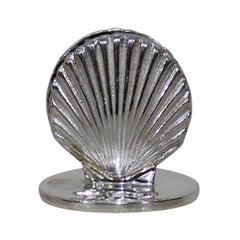 Eight Israel Freeman & Son English Sterling Shell Place Card Holders