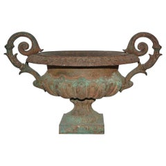 19th Century Cast Iron Garden Urn