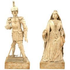 Pair of French '19th Century' Monumental Figures of a Duke & Duchess