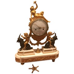 18th Century Bacchante Bronze Dore' Mantel Clock