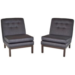 Pair of Low Midcentury Slipper Lounge Chairs After Harvey Probber