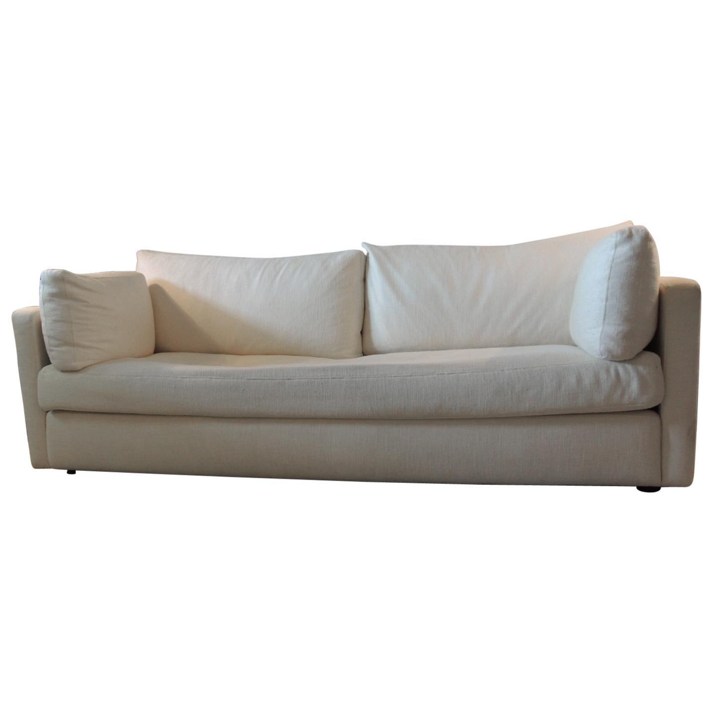Vintage Billy Baldwin Style Tuxedo Sofa For Sale