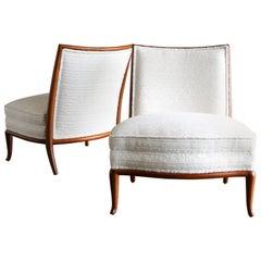 Rare Slipper Chairs by T.H. Robsjohn-Gibbings