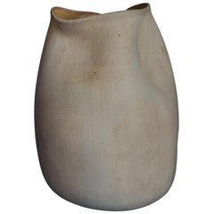 Ceramic Fingerprint Design Abstract Organic Form Vase, Handmade in Mexico
