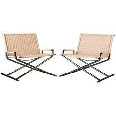 Ward Bennett 'Sled' Lounge Chairs
